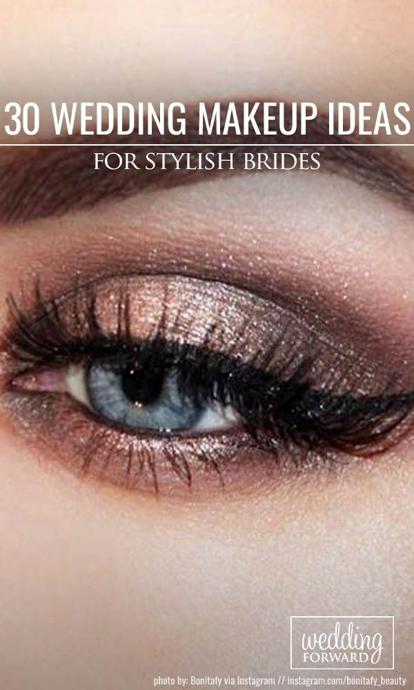 30 Wedding Make Up Ideas For Stylish Brides ❤ We've created collection of wedding makeup. There are ideas for unique make up, elegant, make up that will be appropriate for different eyes' colours. See more: http://www.weddingforward.com/wedding-makeup/ 