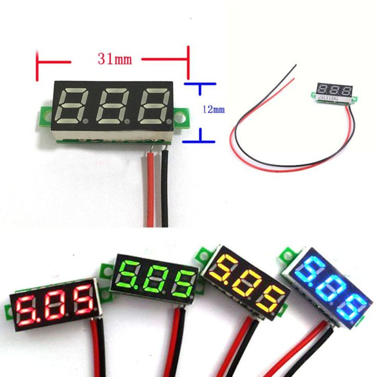 DC 2.5-30 V 2 Kawat LED Display Tegangan Digital Panel Voltmeter Mobil Motor Hot Sale