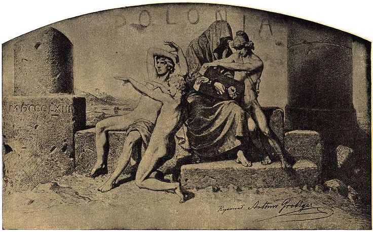 Artur Grottger - Polonia, I. Karta tytułowa, 1863