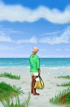 Leon McPherson, Woman at the Beach, 2012