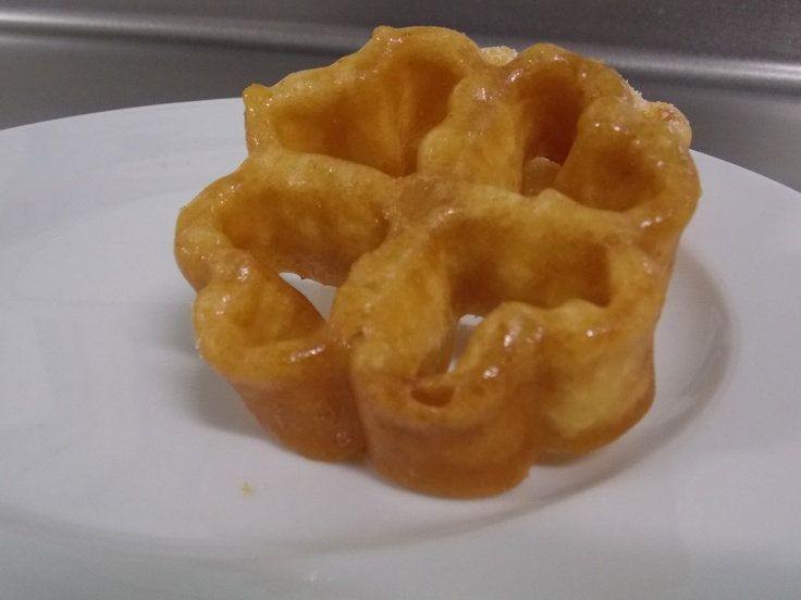 Flores fritas con miel sin gluten