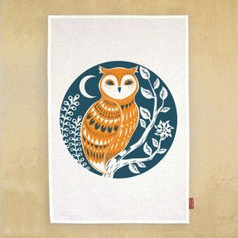 Owl Tea Towel