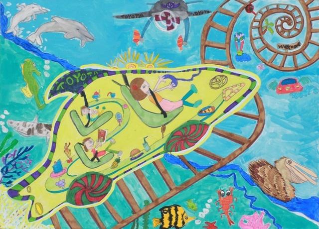 Toyota Dream Car Art Contest  - Shark Car by Leah C. (Age 6 - Los Angeles, CA)