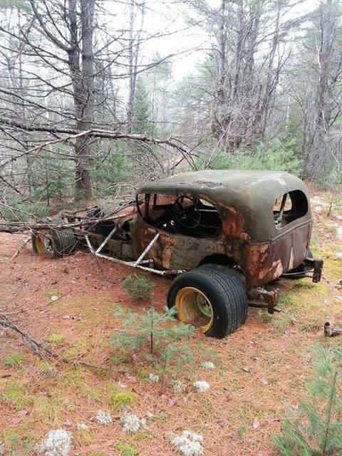 Left to waste. Cars became outdated so often with the constant changes in technology, it was rare to use the same car for more than a couple of seasons. Some made it to a peaceful spot out in the back woods...