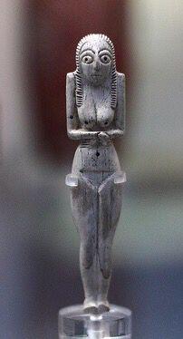 Bone or ivory figurine. Predynastic Naqada I. 4000-3600 B.C., Egypt