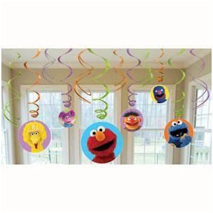 1060 - Sesame Street Hanging Swirls. Pack of 12 www.facebook.com/popitinaboxbusiness