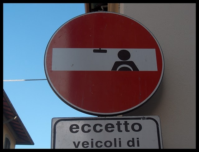 Best Clet Abraham Images On Pinterest Artists Florence Italy - Brilliant street artist modifies road signs giving them a whole new meaning