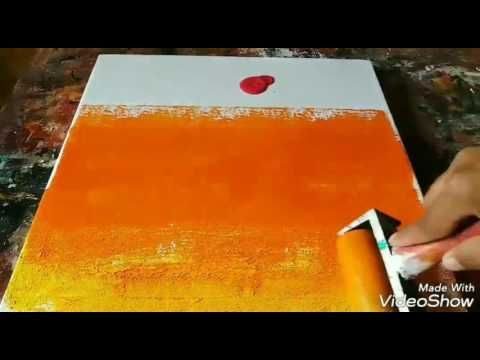 Abstract painting / Easy Acrylic abstract painting / Demo - YouTube