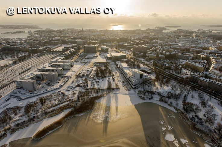 Helsinki talvella Ilmakuva: Lentokuva Vallas Oy