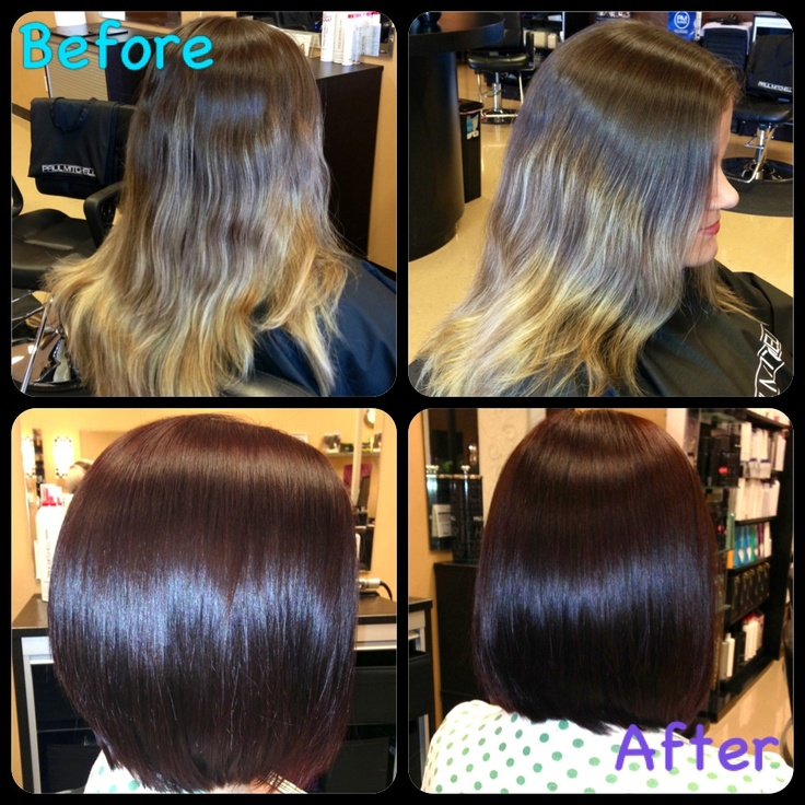 Before and After... Stacked long bob | Things I've Done ...