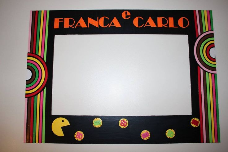 cornice photobooth party anni 80