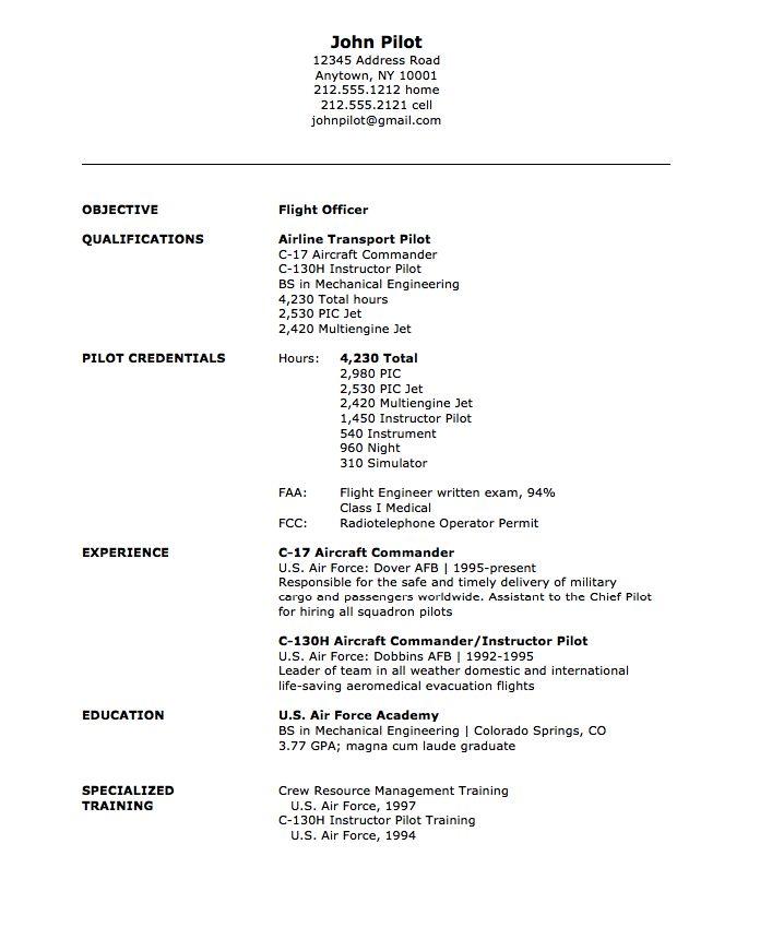 sample military resume. military resume example sample military ... - Free Military Resume Builder