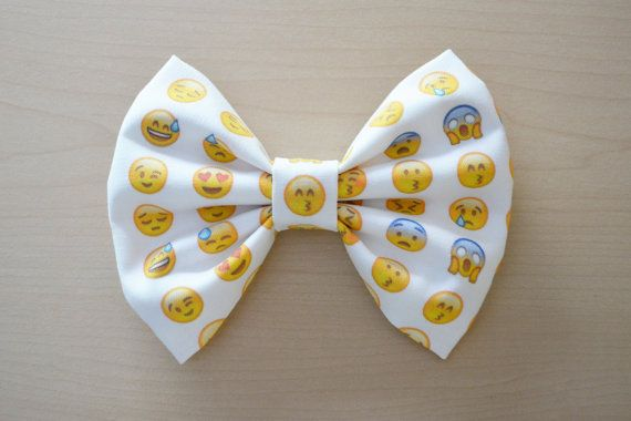 Emoji Hair Bow by LittleBlueGarden on Etsy