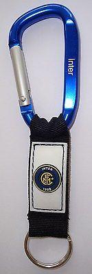 Inter Milan Keychain, Carabiner, w/ PVC logo & Engraved,Icardi,Perisic, Candreva