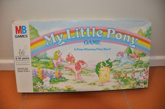 My Little Pony Game A Prize Winning Pony Race Board Game Box - Milton Bradley by jadedoz, via Flickr