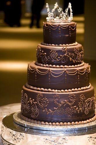 round delicious chocolate cake