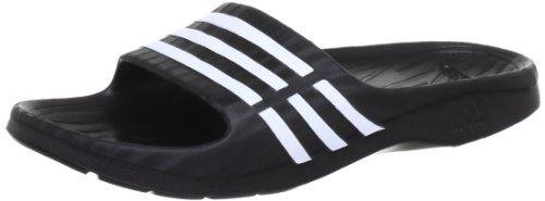 adidas Duramo Sleek W Damen Dusch & Badeschuhe, Schwarz (Black 1/White/Black 1), 37 EU (Herstellergröße: 4) - http://on-line-kaufen.de/adidas-performance/37-herstellergroesse-4-adidas-duramo-sleek-w
