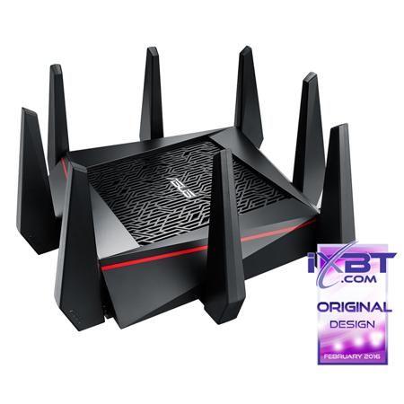 ASUS RT-AC5300 802.11ac 5334Мбит/с 2,4 ГГц и 5ГГц 4xGbLAN USB2.0x1 USB3.0x1 поддержка 3G/4G модемов  — 21630 руб. —  Беспроводной маршрутизатор ASUS RT-AC5300 802.11ac 5334Мбит/с 2,4 ГГц и 5ГГц 4xGbLAN USB2.0x1 USB3.0x1 поддержка 3G/4G модемов