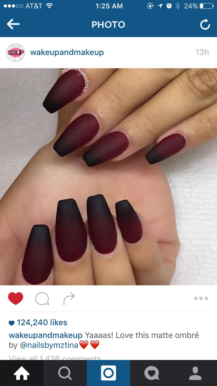 Pin by Shampagne Janae on n a i l s | Maroon nails, Nails ...