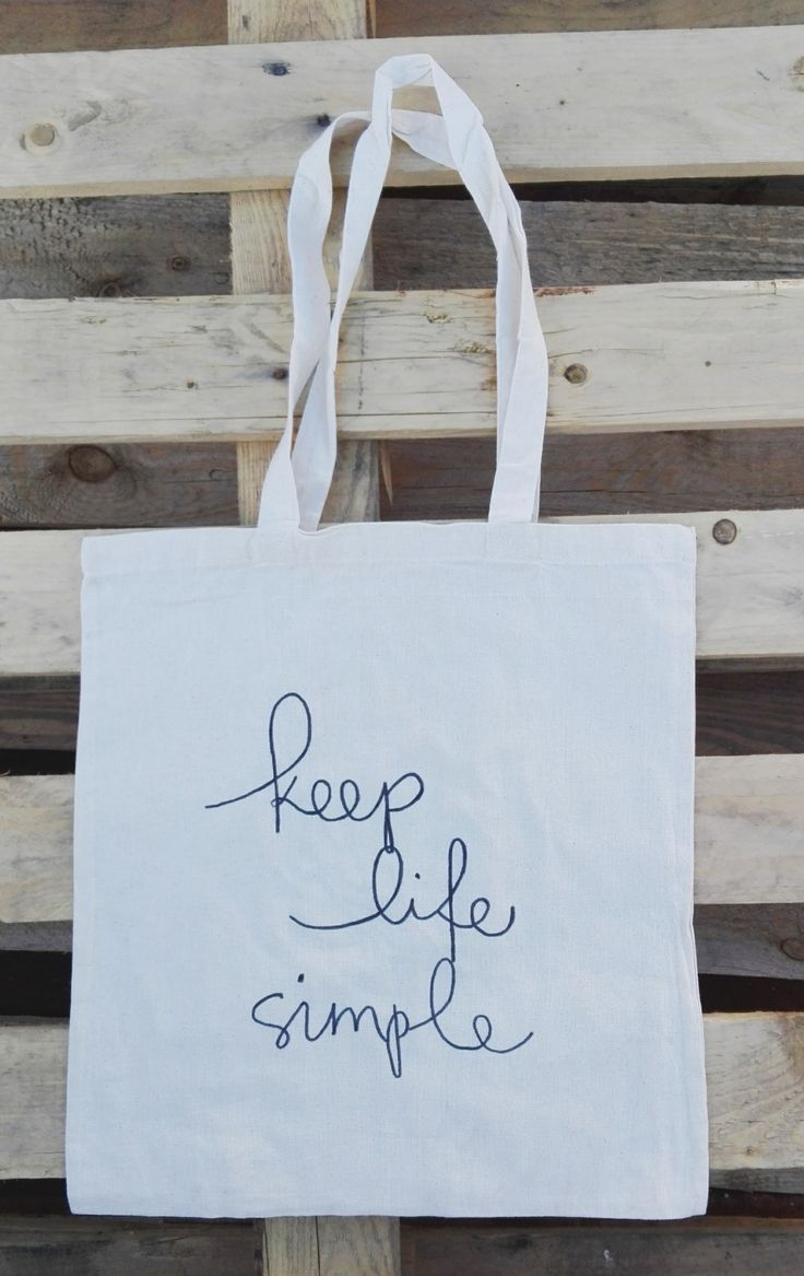 Keep Life Simple Cotton Tote