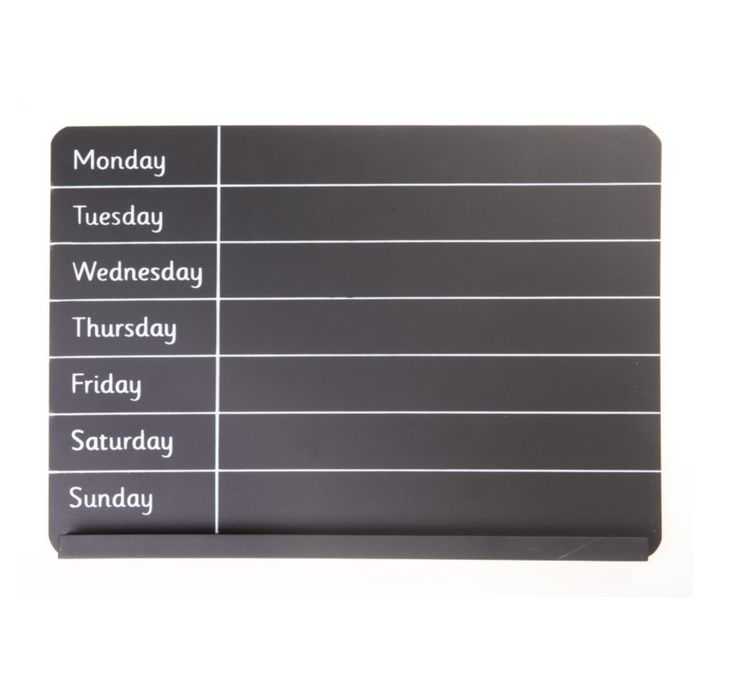 http://www.sassandbelle.co.uk/ Weekly Planner Chalk Board