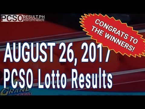 PCSO Lotto Results Today August 26, 2017 (6/55, 6/42, 6D, Swertres & EZ2) - http://LIFEWAYSVILLAGE.COM/lottery-lotto/pcso-lotto-results-today-august-26-2017-655-642-6d-swertres-ez2/