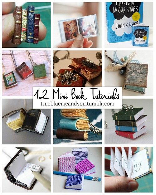 DIY 12 Favorite Miniature Book Tutorials. Mini DIY books have...