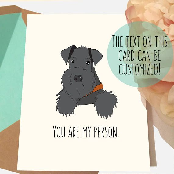 Dog Valentines Card Kerry Blue Terrier Birthday Lover Gifts Lovers