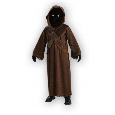 Star Wars: Jawa. Jawan naamiaisasun viimeistee maski, jossa loistaa hupun alta hahmon hehkuvat silmät. Silmät hehkuvat pattereiden voimalla.