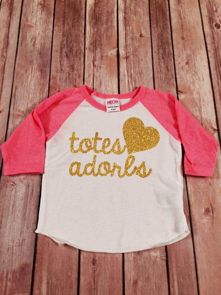Totes Adorbs Gold Glitter Raglan Shirt, Baby Raglan Tee,Toddler Raglan Tee,Childrens Raglan tee,Totes Adorbs Raglan Tee,Totally Adorable by SnowSew on Etsy https://www.etsy.com/listing/229577152/totes-adorbs-gold-glitter-raglan-shirt