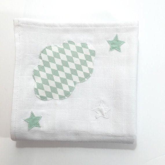 Lange coton nuage - 3 étoiles - losange amande / blanc / amande