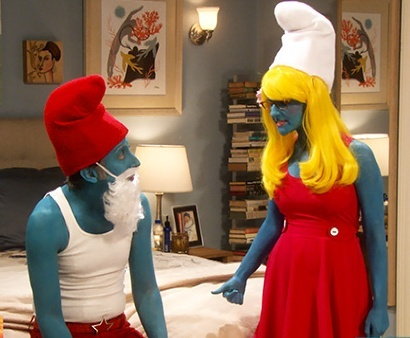 143 best funny people costumes images on pinterest carnival funny episode 5 of season 6 of the big bang theory the holographic excitation wolowitz and bernadette dress up as smurf and smurfette solutioingenieria Image collections