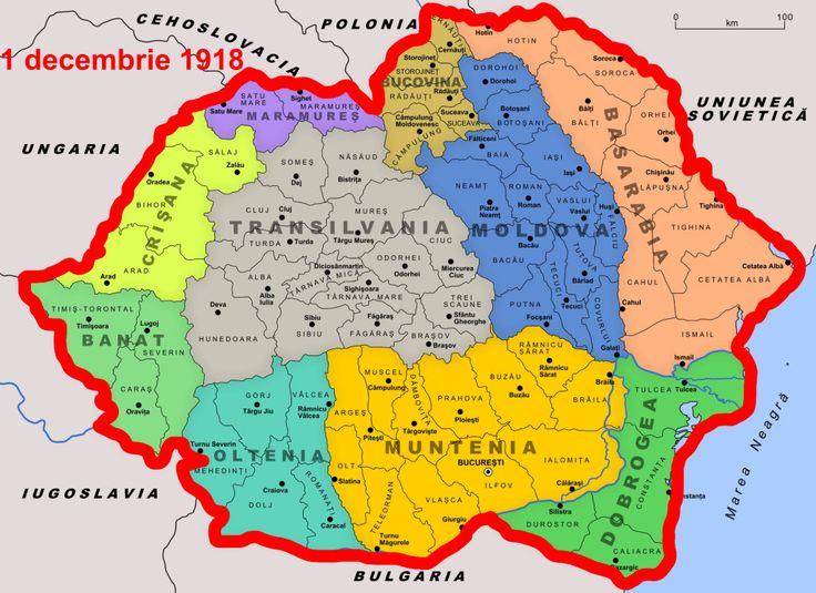 Harta Romaniei - Romania cu Ardealul
