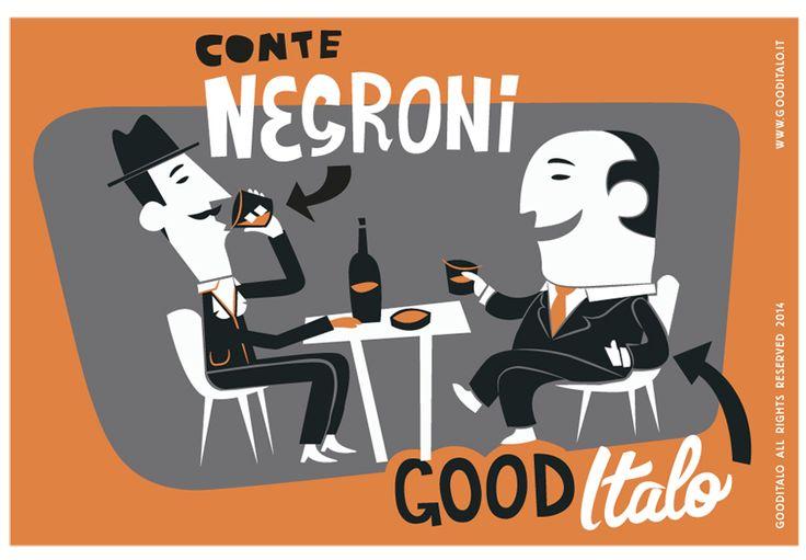 Conte Negroni. Le cartoline di Good Italo and friends