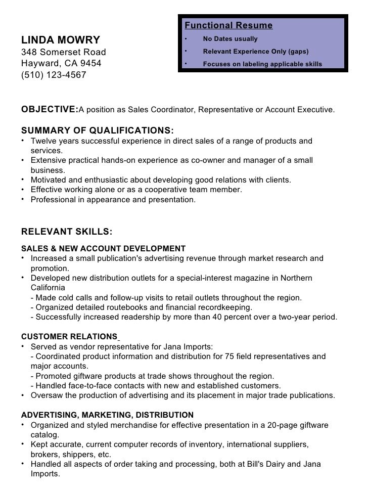 Resume Format Without Dates Resume Format Functional Resume