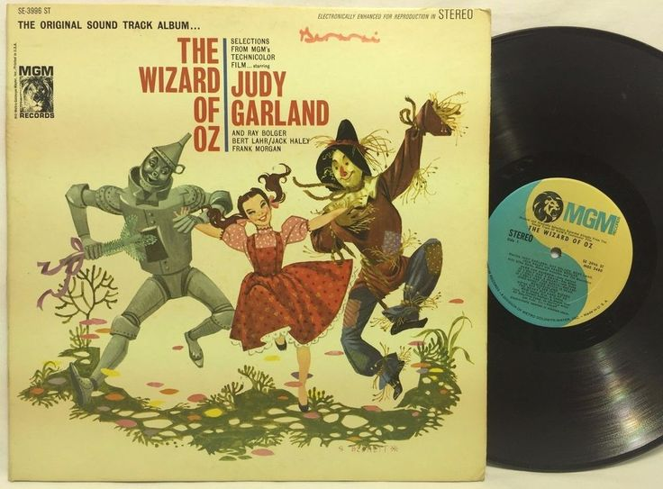 The Wizard Of Oz Soundtrack Judy Garland 1962 MGM SE-3996 LP #Vinyl Record