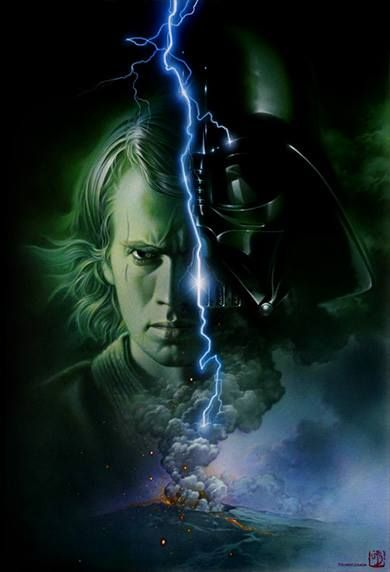 Anakin / Darth Vader ~ A boy, born a slave, without a Father, who becomes a Master Slave, and allows his only Son to be raised without a Father . . .