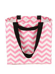 Tote Bag - Medium pale pink chevron