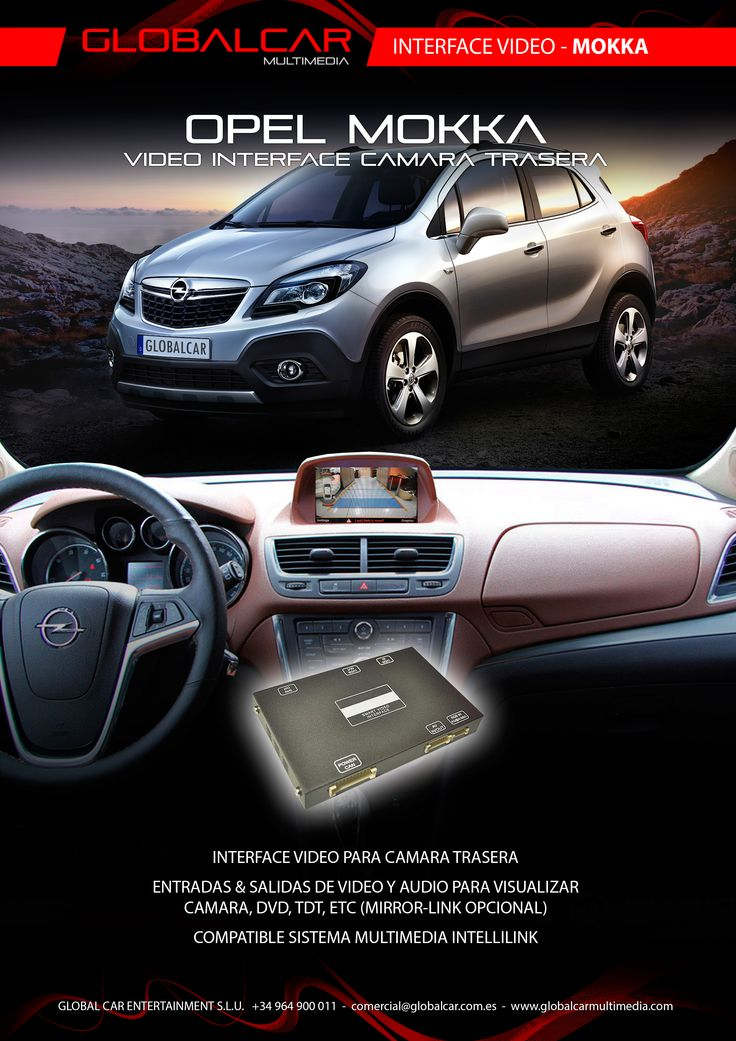 Ficha Interface Video Camara Trasera para Opel Mokka - http://www.globalcarmultimedia.com/ficha-interface-video-camara-trasera-para-opel-mokka
