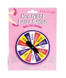 Hen Night Dares Badge