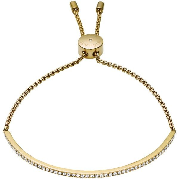 Michael Kors Brilliance Bracelet , Gold ($135) ❤ liked on Polyvore featuring jewelry, bracelets, gold, pandora jewelry, sparkle bracelet, pandora bracelet, gold jewellery and chain bracelet