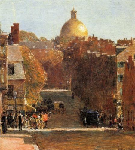 Mount Vernon Street, Boston  Childe Hassam