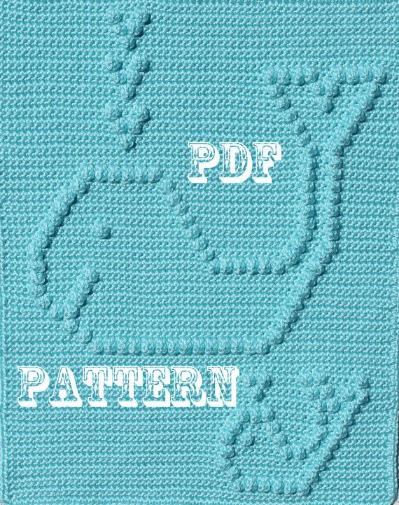Crochet Pattern Happy Whales Snuggle Blanket by TheBabyCrow