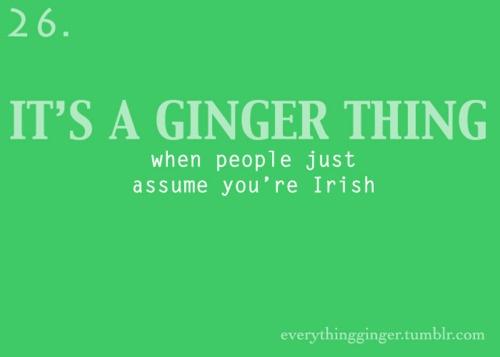 not Irish...Scottish, though!