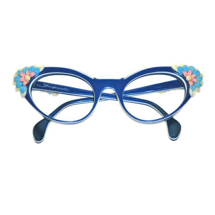 So darn cute! 1950s Schiaparelli sunglasses/frames