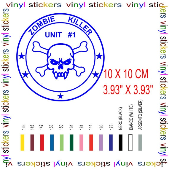 car decal sticker Zombie Killer by Tmaniashop on Etsy, €2.00