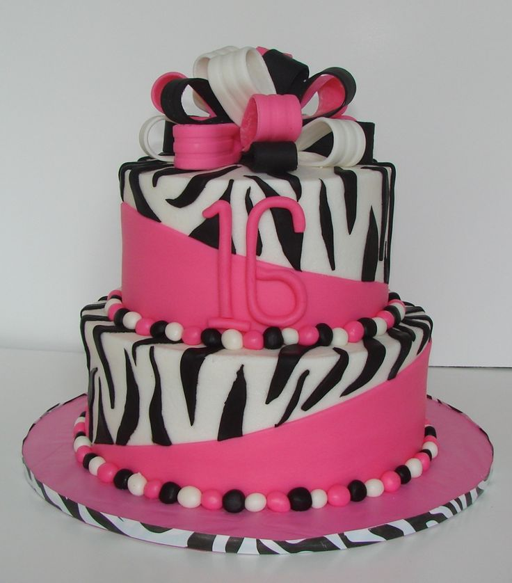 zebra cake designs for birthdays 10 - Birthday Cake Designs Ideas