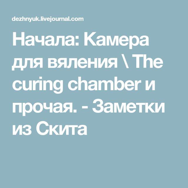 Начала: Камера для вяления \ The curing chamber и прочая. - Заметки из Скита