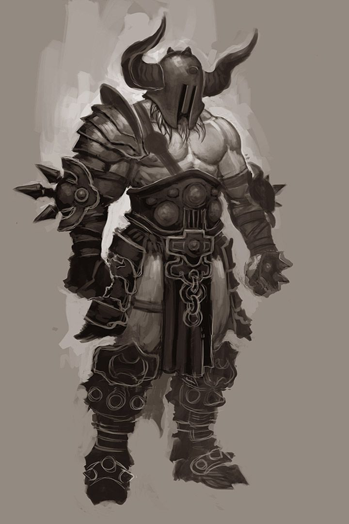 Character Design For Writers : Barbarian heavy concept from diablo iii ★ character