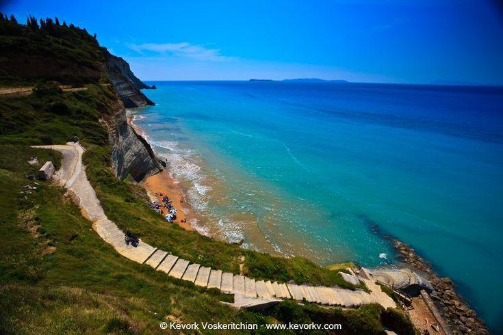 Loggas beach, Corfu Island. http://www.rooms-2-let.com